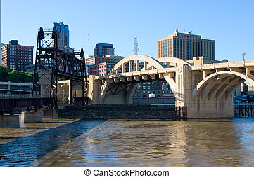 Bridges Spanning Mississippi River in Saint Paul
