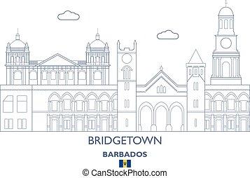 Bridgetown City Skyline, Barbados - Bridgetown Linear City...