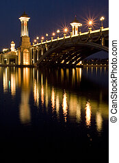 bridzs, éjszaka, putrajaya, színhely, malaysia