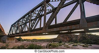 bridzs, arizona, útvonal, felett, kiképez, dezertál