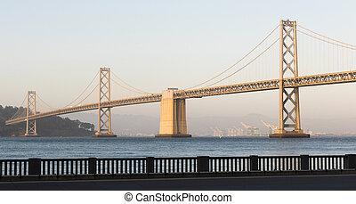 Bridzs,  francisco, szállítás, szanatórium, öböl, körképszerű, kalifornia, Zenemű