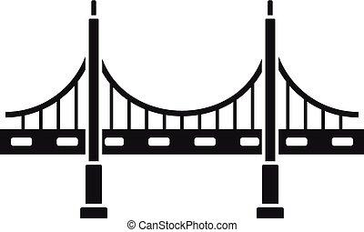 bridzs, mód, egyszerű, nagy, fém, ikon