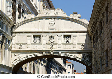 bridzs of sóhaj, (ponte, dei, sospiri), alatt, velence, olaszország