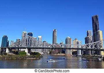 bridzs, sztori, ausztrália, brisbane, -, queensland