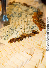 Brie and Blue Cheese with Dried Fruits