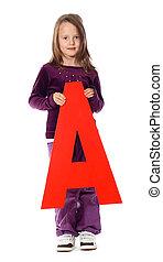 """brief, \""""a\"""", meisje"""