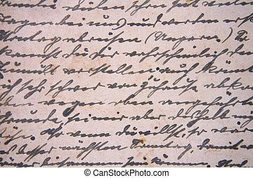 brief, achtergrond
