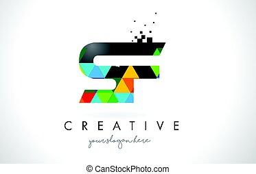 brief, bunte, f, beschaffenheit, s, design, vector., logo, ...
