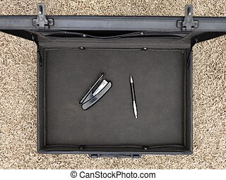 A close up shot of a business brief case