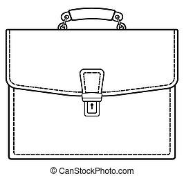Brief case contour icon - Illustration of the contour...
