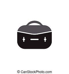 Brief case icon vector flat illustration design