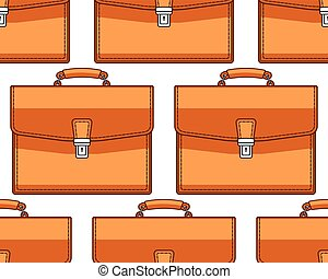 Brief case pattern - Seamless pattern of the briefcases