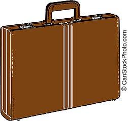 Brief case, vector