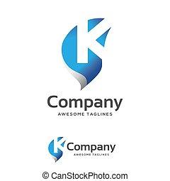 brief, creatief, k, logo