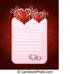 brief, dag, romantische, valentine