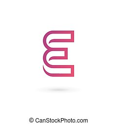 brief e, logo, pictogram, ontwerp, mal, communie