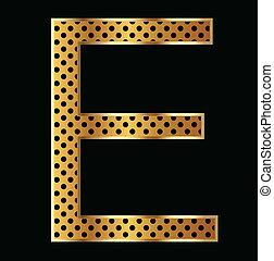 brief e, met, tiger, stijl