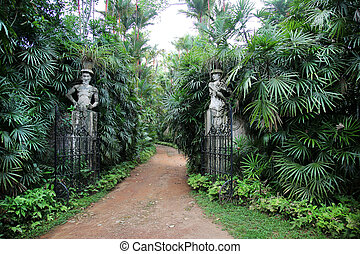 Brief Garden Aluthgama Sri Lanka - the entrance gate of the...