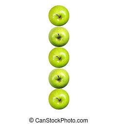 brief, ich, gemacht, von, äpfel