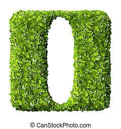 brief, ich, gemacht, von, grüne blätter