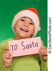 brief, kerstman