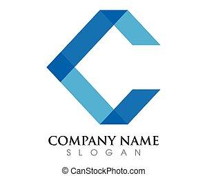 brief, logo, c