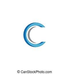 brief, logo, c, schablone