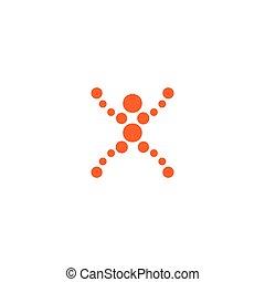 brief, logo, position, figur, menschliche , macht, symbol,...