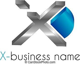 brief, logo, x