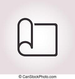 brief, pictogram, op wit, achtergrond