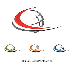 brief, schablone, logo, schneller, c