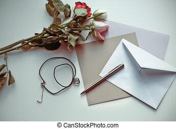 brief, voorbij, geheugen
