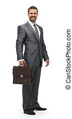 briefcase., 充分, growth.businessman