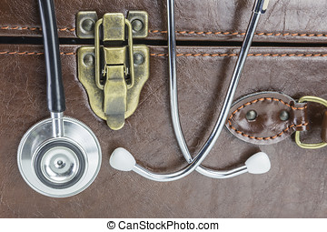 Briefcase and Stethoscope