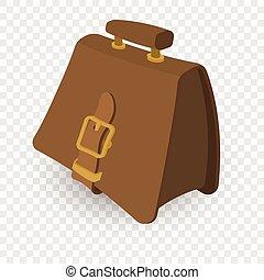 Briefcase brown cartoon illustration
