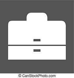 Briefcase, case, business icon vector image. Can also be...