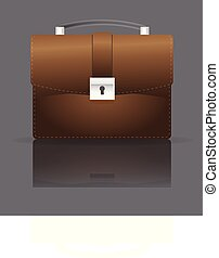 BRIEFCASE - This illustration represents a brown leather...