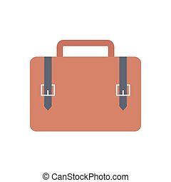 briefcase  flat color icon