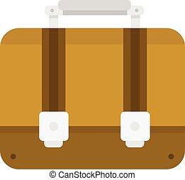 Briefcase flat icon vector.
