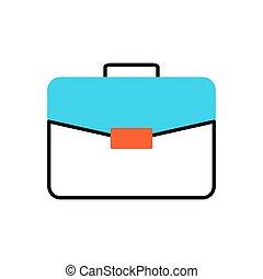 Briefcase Flat Vector Icon.