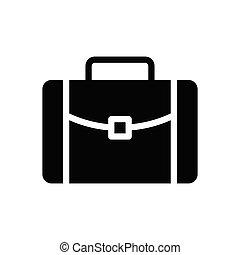 briefcase  glyph flat icon
