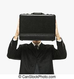 briefcase., hombre