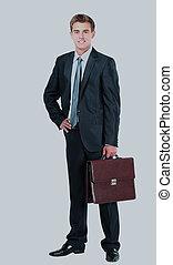 briefcase., homme affaires