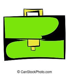 Briefcase icon cartoon