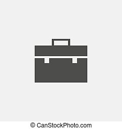 Briefcase icon in black color. Vector illustration eps10