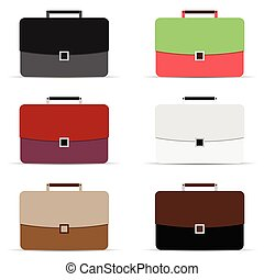 briefcase icon in different color