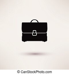 briefcase Icon in the flat style