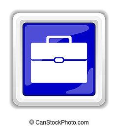 Briefcase icon. Internet button on white background.