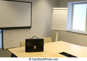 Briefcase in Board Room