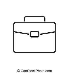 Briefcase line icon on a white background